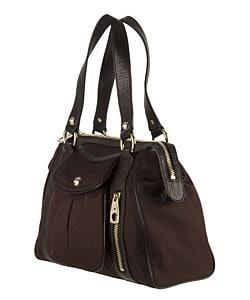 celine handbags online shopping - Celine Nylon Shoulder Bag with Leather Trim - 10809093 - Overstock ...