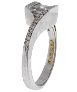 tacori platinum cz 1 10ct tdw diamond wedding ring With tacori wedding rings overstock
