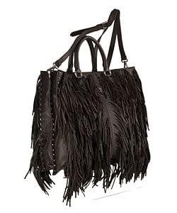 prada dark brown leather handbag - Prada Brown Leather Fringe Bag with Studs - 10855703 - Overstock ...