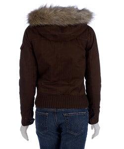 Zenana Bomber Jacket with Faux Fur Trim Hood
