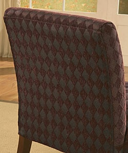 Accent Chair Plum Argyle