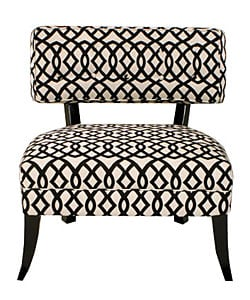 JAR Designs Lucy Black/ White Accent Chair