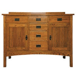 Mission Solid Oak Small Sideboard Buffet