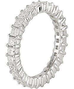 18k White Gold 2ct TDW Full Diamond Eternity Band (G-H, SI2)