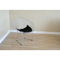 Rupert Chrome Steel Chair with Leatherette Seat Pad