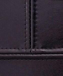 Leather Castor Bench Black