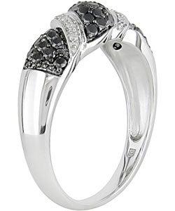 14k Gold 3/4ct TDW Black and White Diamond Ring (I-J, I1-I2)