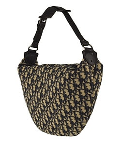 Christian Dior Jacquard Logo Canvas Hobo
