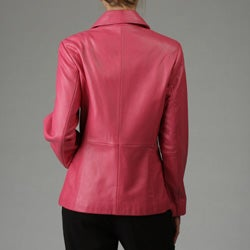 Liz Claiborne Women's Leather Scuba Jacket - Overstock  Shopping