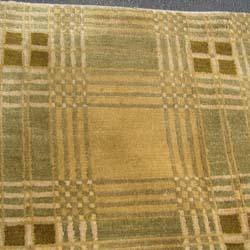 Tibetan Hand-knotted Beige/ Olive Rug (8' x 10')