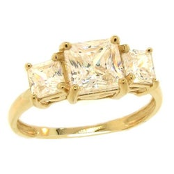 10k Yellow Gold Cubic Zirconia Engagement Ring