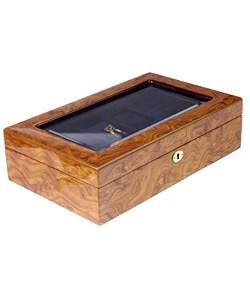 Tan 8-slot Watch Box