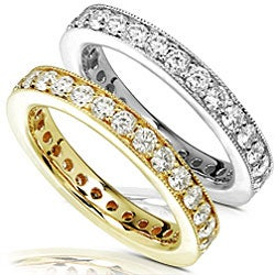 14k Gold 1ct TDW Round Diamond Eternity Band (G-H, I1-I2)