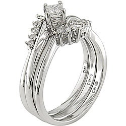 14k White Gold 1/3ct TDW Diamond Bridal Ring Set