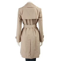 London Fog Women's Petite Short Trench Coat