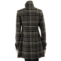 Miss Sixty Women's Plaid Babydoll Coat