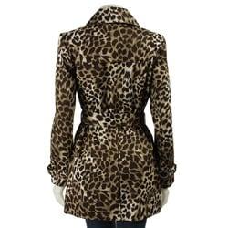 MICHAEL Michael Kors Women's Leopard Print Trench Coat