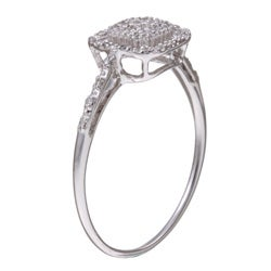 10k White Gold 1/10ct TDW Diamond Halo Ring (H-I, I3)