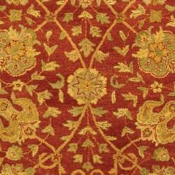 Handmade Antiquities Mashad Rust/ Ivory Wool Rug (8'3 x 11')