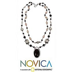 'Duet' Onyx and Pearl Necklace (Indonesia)
