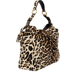 Prada Leopard Print Calf Hair Tote Bag - 11307086 - Overstock.com ...
