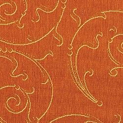 Safavieh Indoor/ Outdoor Oasis Terracotta/ Natural Rug (6'7 Round)