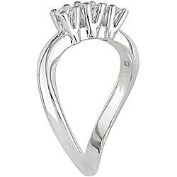 18k White Gold 1/3ct TDW Diamond 3-stone Ring (G-H, SI1-SI2)