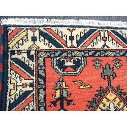Indo Kazak Rust/ Ivory Rug (3 x 5)