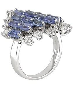 18k Gold Light Blue Sapphire and 5/8ct TDW Diamond Ring (G-H, SI)