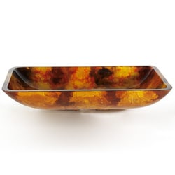 Kraus Amber Rectangular Glass Vessel Sink