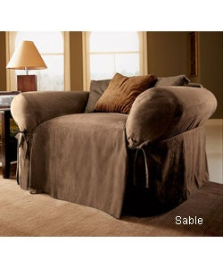 Classic Suede Oversized Chair Slipcover