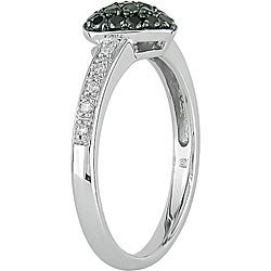 Miadora 10k Gold 1/3ct TDW Black and White Diamond Ring (I-J, I2-I3)