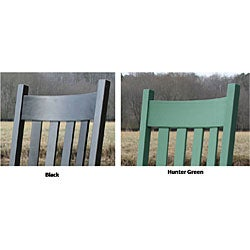 Square Post Slat Back Rocking Chair