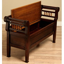 Kings Lift Top Wood Storage Bench Indonesia 11410883