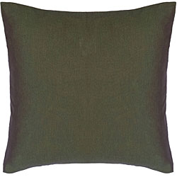 Forest Green and Salmon Thai Silk Cushion Cover
