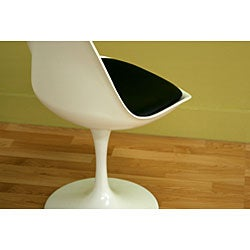 Redd White Chair with Black PVC Cushion