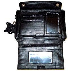 Kozmic Black Leather Wristlet