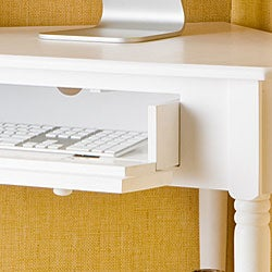 Armstrong White Corner Computer Desk