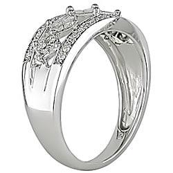 14k Gold 1/2ct TDW Princess and Round Diamond Ring