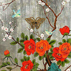 Birds and Butterflies Storage Cabinet