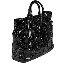fake prada handbag - prada black patent leather small bag