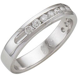 14k White Gold 1/2ct TDW Diamond Band Ring (H-I, I1)
