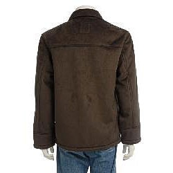 Chaps Men's Microsuede Faux Shearling Car Coat