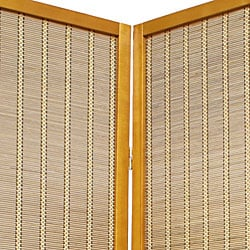 Wood and Bamboo 6-foot 4-panel Serenity Room Divider (China)