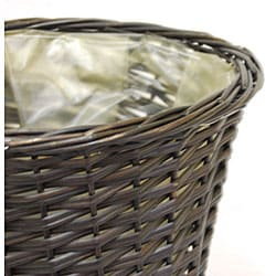 Lined Pot-cover 10-inch Wicker Baskets (Set of 12)