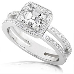 14k Gold 1 1/3ct TDW Asscher Diamond Engagement Ring (H-I, SI1-SI2)
