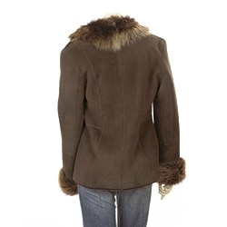 Women's Shawl Collar Shearling Jacket