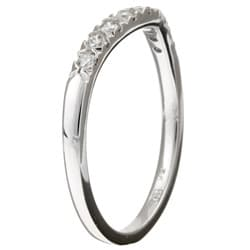 14k White Gold 1/4ct TDW Curved Diamond Wedding Band (G-H, I1)