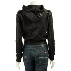 MICHAEL Michael Kors Women's Leather Hooded Jacket