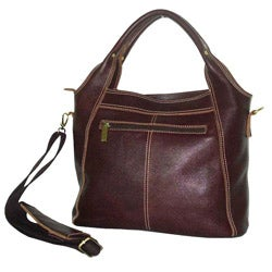 Amerileather Elizabeth Two-pocket Leather Tote Bag